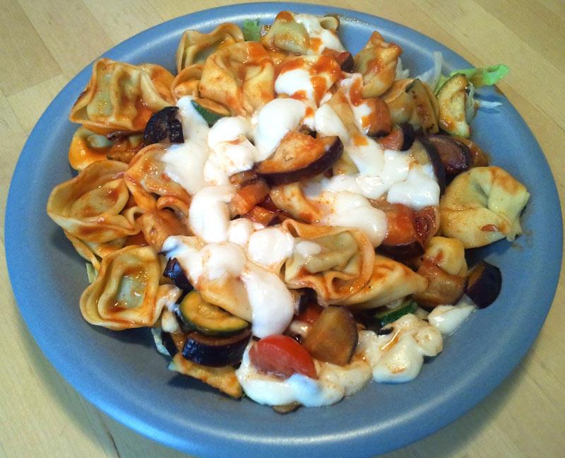 Tortellini mit Mozzarella