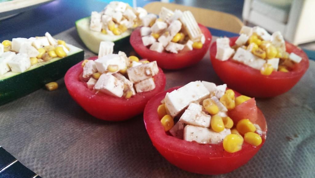 Tomaten werden im Ofen überbacken