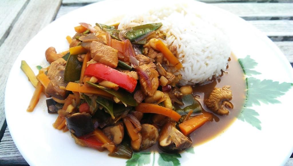 Gemüse mit Reis