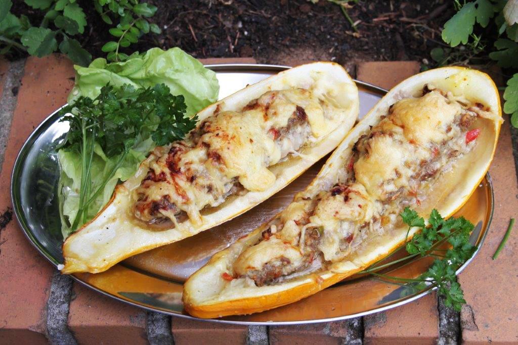 Zucchini im Ofen überbacken