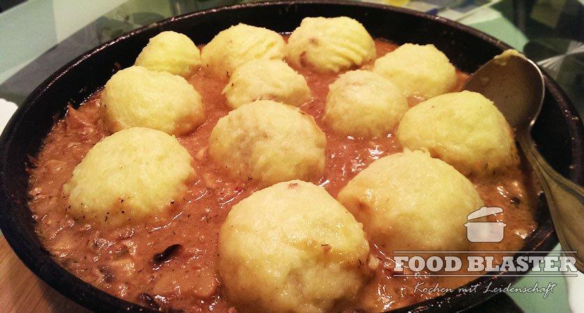 Schlesische Kartoffelknödel mit Fleischfüllung Rezept - Food Blaster