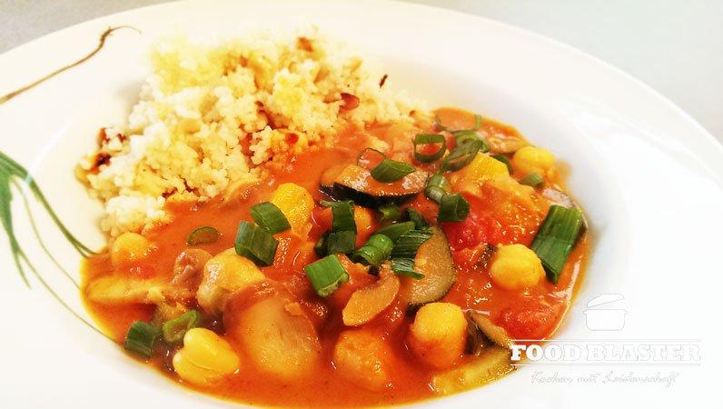 Kichererbsen mit Couscous