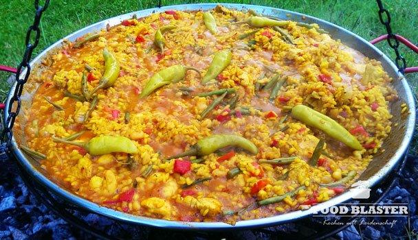 Spanische Paella Mit Fisch Und Fleisch Rezept - Food Blaster