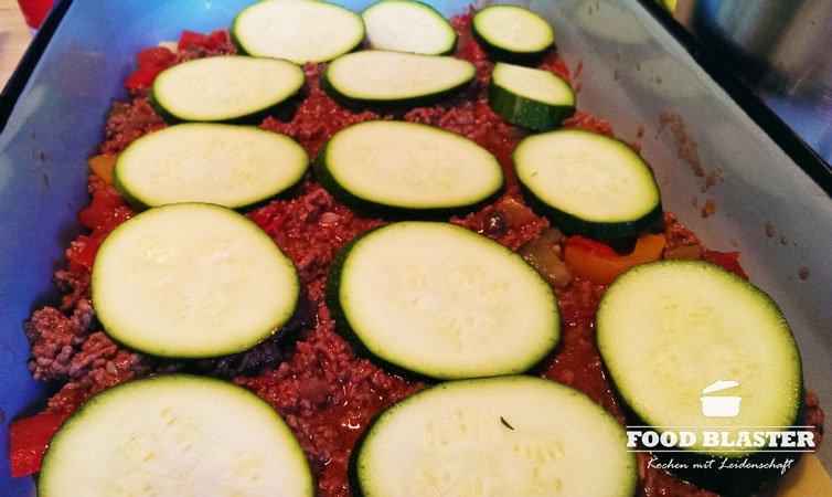Zucchini für Lasagne