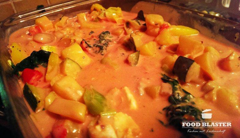 Tomatensoße im Auflauf