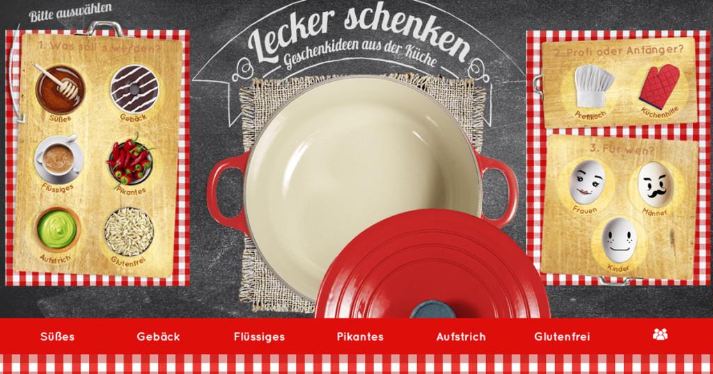 Homepage von Lecker schenken