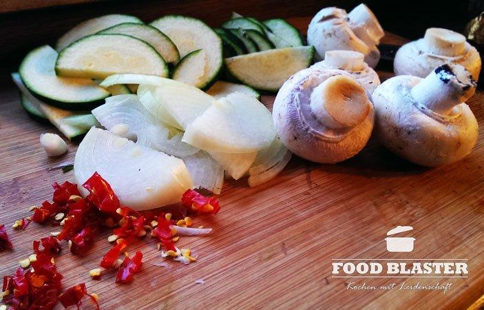 Gemüse für das Matjesfilet