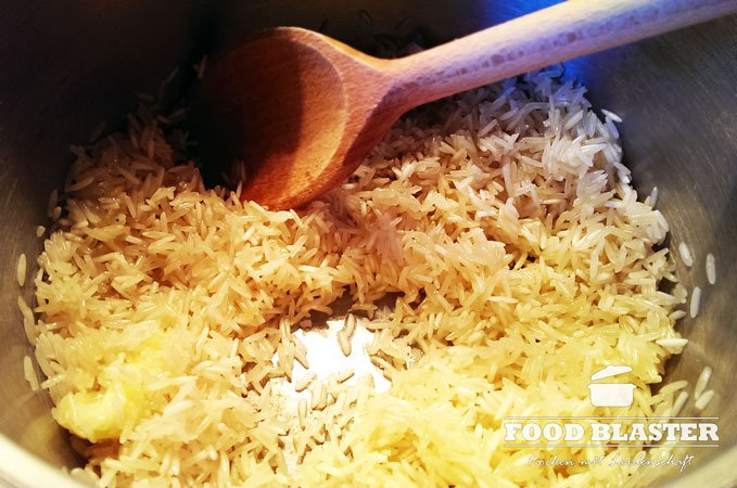 Reis in Butter
