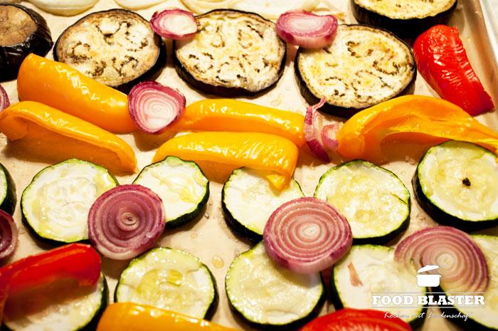 Gebackenes Gemüse für Tacos
