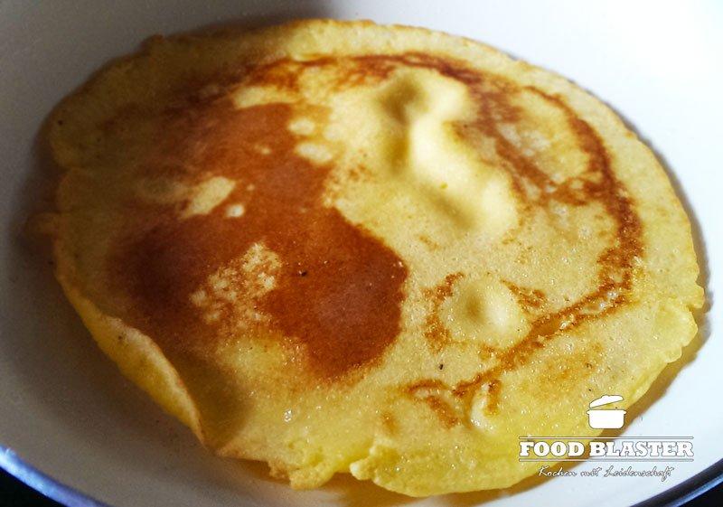 Pfannkuchen aus Maismehl fertig