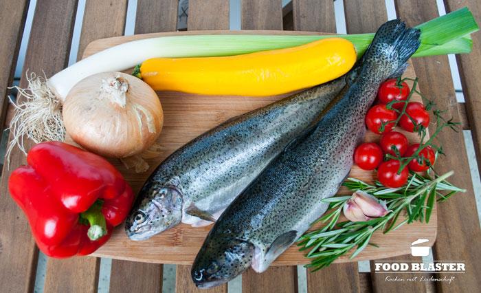 Zutaten für Forelle aus dem Ofen