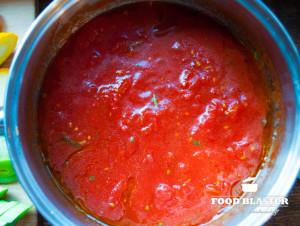 Tomatensoße für den Fisch