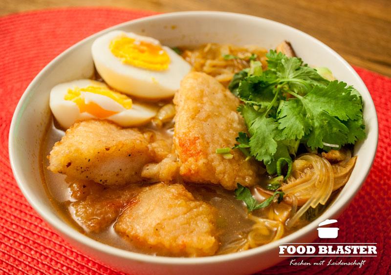 Asiasuppe mit Fisch