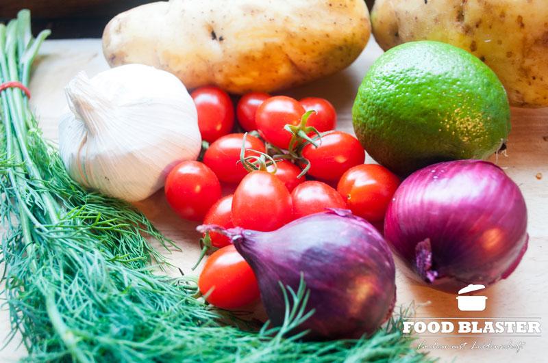 Gemüse für den Dorschauflauf