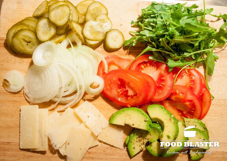 Gemüse für Fisch und Burger