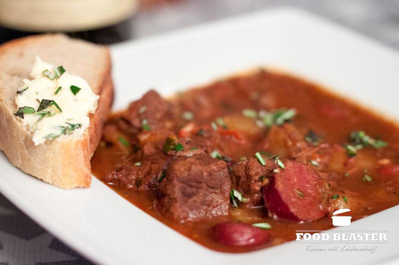 Gulasch mit Rindfleisch