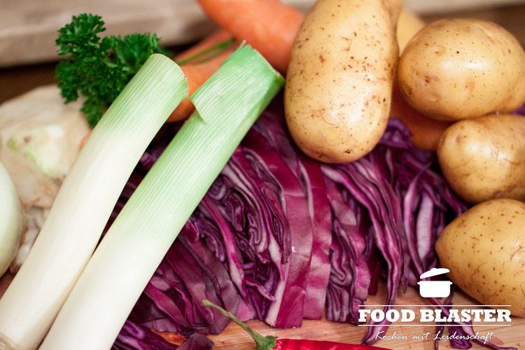 Zutaten für Rotkohlsuppe