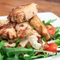 Rucolasalat mit Hähnchen-Nuggets