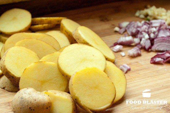 Kartoffeln schneiden