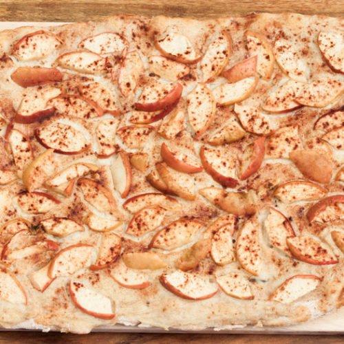 Titelbild: Apfelpizza